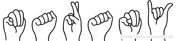 Marany in Fingersprache für Gehörlose