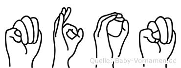 Mfon in Fingersprache für Gehörlose