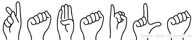 Kabaila im Fingeralphabet der Deutschen Gebärdensprache