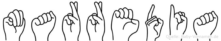 Marredia in Fingersprache für Gehörlose