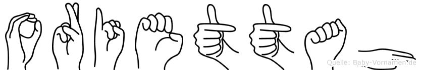 Oriettah in Fingersprache für Gehörlose
