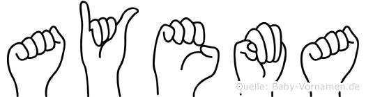 Ayema in Fingersprache für Gehörlose