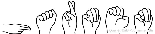 Harmen im Fingeralphabet der Deutschen Gebärdensprache