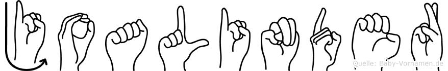 Joalinder im Fingeralphabet der Deutschen Gebärdensprache