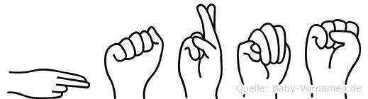 Harms im Fingeralphabet der Deutschen Gebärdensprache
