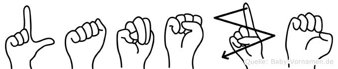 Lansze im Fingeralphabet der Deutschen Gebärdensprache
