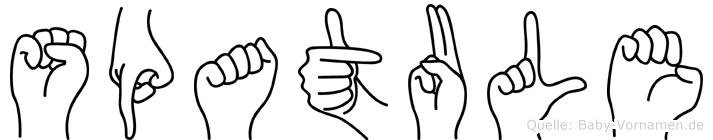 Spatule in Fingersprache für Gehörlose
