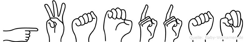 Gwaeddan im Fingeralphabet der Deutschen Gebärdensprache