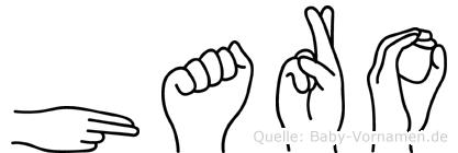 Haro im Fingeralphabet der Deutschen Gebärdensprache