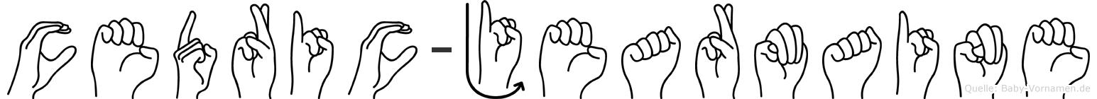 Cedric-Jearmaine im Fingeralphabet der Deutschen Gebärdensprache