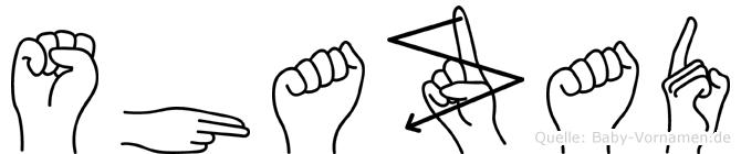 Shazad im Fingeralphabet der Deutschen Gebärdensprache