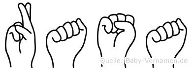 Rasa im Fingeralphabet der Deutschen Gebärdensprache