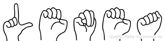 Lenea in Fingersprache für Gehörlose