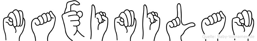 Maximilan in Fingersprache für Gehörlose