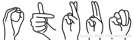 Otrun im Fingeralphabet der Deutschen Gebärdensprache