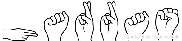 Harras im Fingeralphabet der Deutschen Gebärdensprache