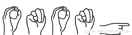 Onong in Fingersprache für Gehörlose