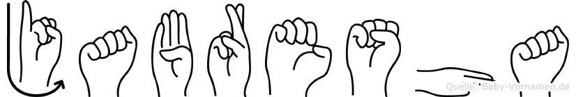 Jabresha im Fingeralphabet der Deutschen Gebärdensprache
