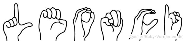 Leonci im Fingeralphabet der Deutschen Gebärdensprache