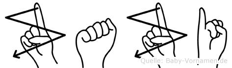 Zazi in Fingersprache für Gehörlose