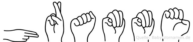 Hramme im Fingeralphabet der Deutschen Gebärdensprache