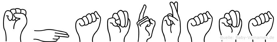 Shandrana in Fingersprache für Gehörlose