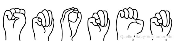 Smonen im Fingeralphabet der Deutschen Gebärdensprache