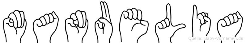 Manuelia in Fingersprache für Gehörlose