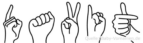Davit in Fingersprache für Gehörlose