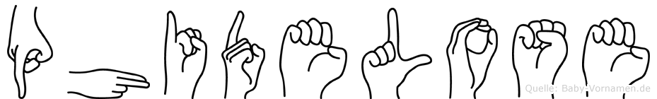 Phidelose in Fingersprache für Gehörlose