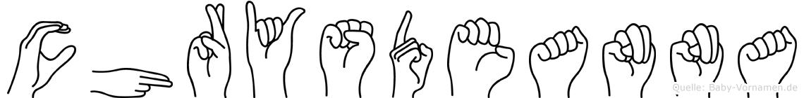 Chrysdeanna in Fingersprache für Gehörlose