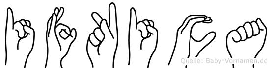 Ifkica im Fingeralphabet der Deutschen Gebärdensprache