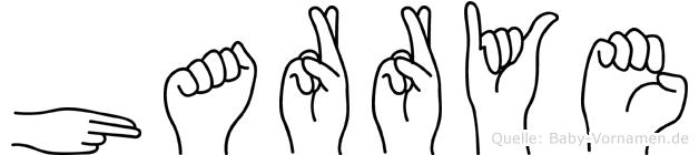 Harrye im Fingeralphabet der Deutschen Gebärdensprache