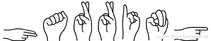 Harring im Fingeralphabet der Deutschen Gebärdensprache