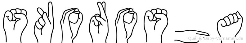 Skorosha in Fingersprache für Gehörlose