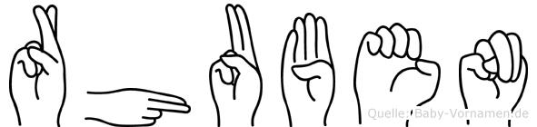 Rhuben in Fingersprache für Gehörlose