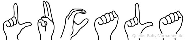 Lucala in Fingersprache für Gehörlose