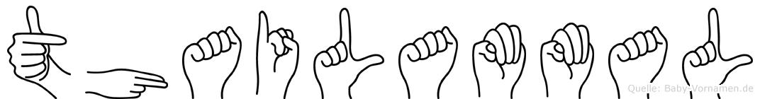 Thailammal im Fingeralphabet der Deutschen Gebärdensprache