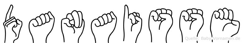 Danaisse in Fingersprache für Gehörlose