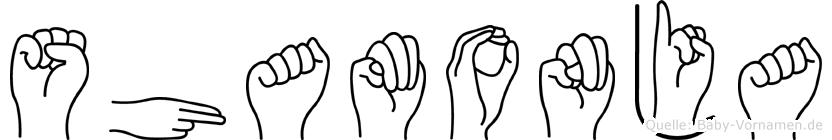 Shamonja in Fingersprache für Gehörlose