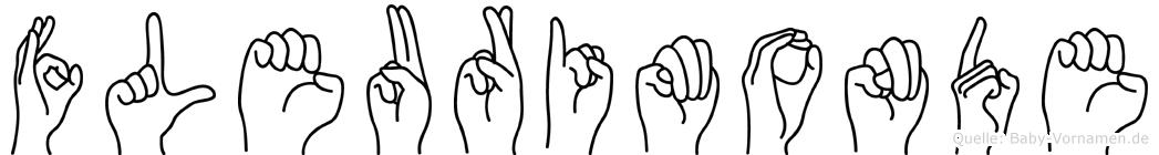 Fleurimonde im Fingeralphabet der Deutschen Gebärdensprache