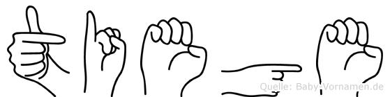 Tiege im Fingeralphabet der Deutschen Gebärdensprache