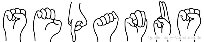 Sepanus in Fingersprache für Gehörlose