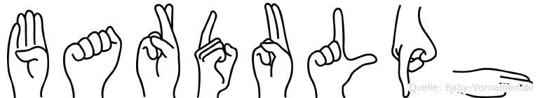 Bardulph im Fingeralphabet der Deutschen Gebärdensprache