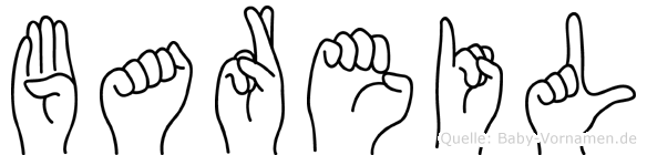 Bareil im Fingeralphabet der Deutschen Gebärdensprache