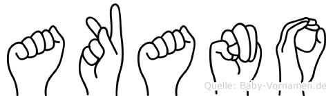 Akano in Fingersprache für Gehörlose