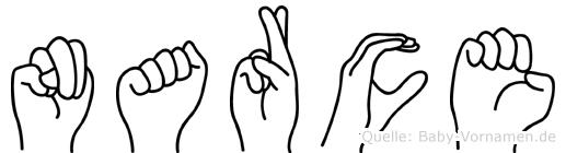 Narce in Fingersprache für Gehörlose
