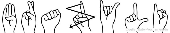 Brazyli im Fingeralphabet der Deutschen Gebärdensprache