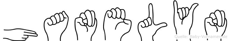 Hanelyn in Fingersprache für Gehörlose