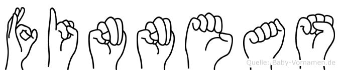 Finneas im Fingeralphabet der Deutschen Gebärdensprache